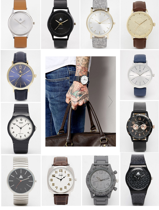 asos men hipster watches