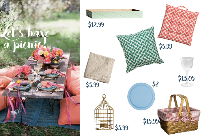 Get Your Cute Summer Picnic Decor For Under $20