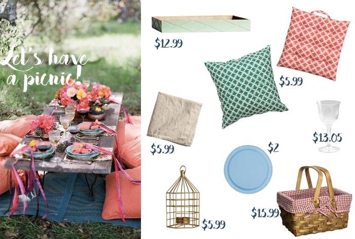 summer picnic decor under 20 dollar